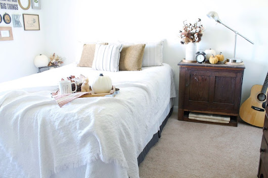 Fall Inspired Master Bedroom