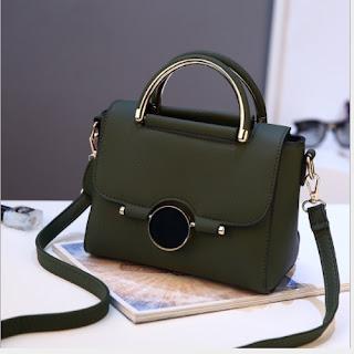 tas selempang wanita fashion korea green