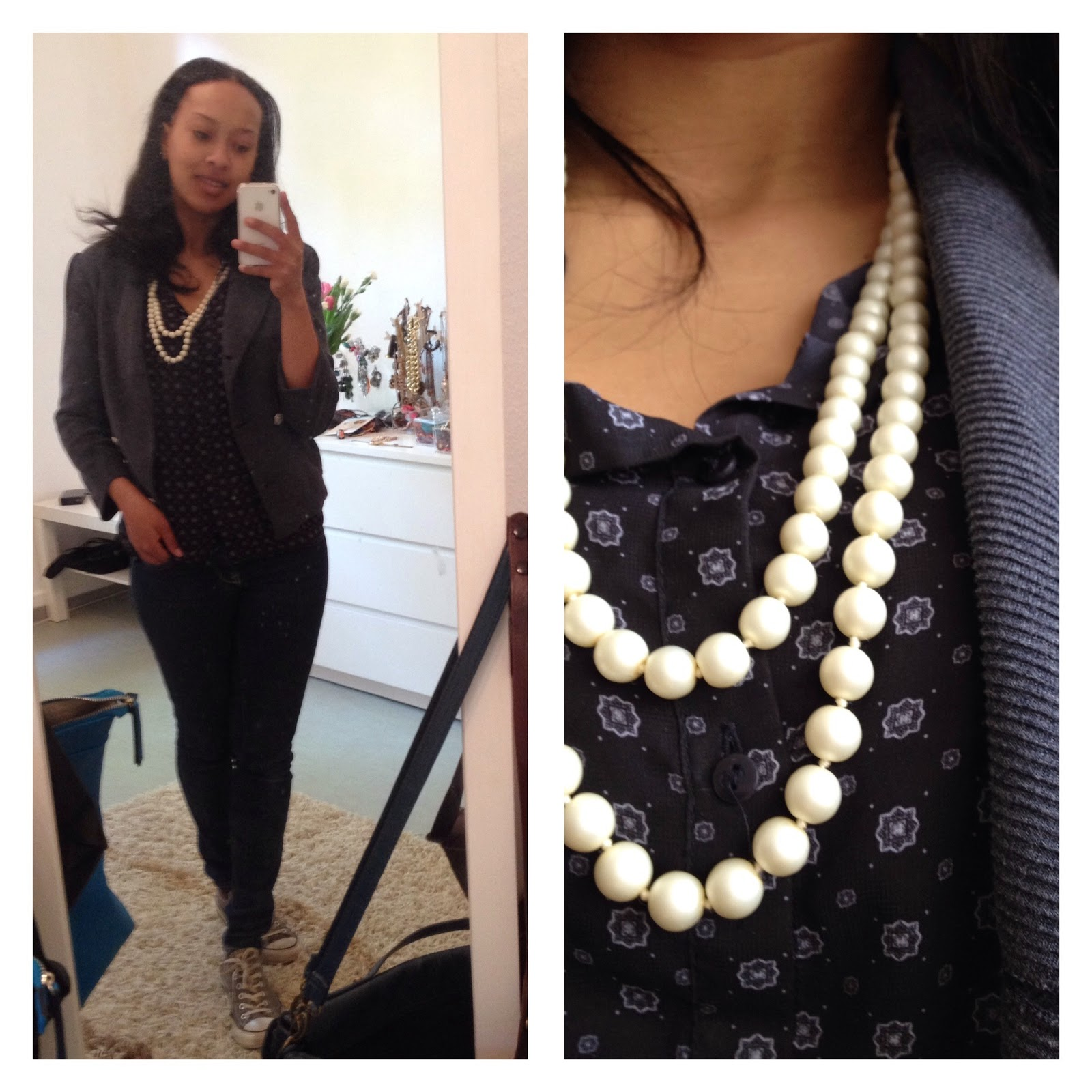 OUTFIT: WHITE CHAIN AND BLUE BLAZER PRIZMAHFASHION