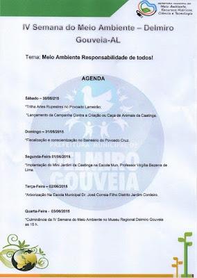 Secretaria de Meio Ambiente  de Delmiro Gouveia promove a IV Semana Municipal do Meio Ambiente