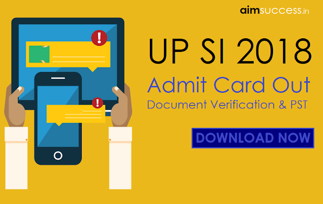 UP SI Admit Card 2018