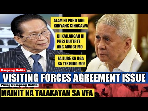 WATCH: Sinupalpal ni Sec Panilo si former foreign affairs secretary of the Philippines Albert del Rosario