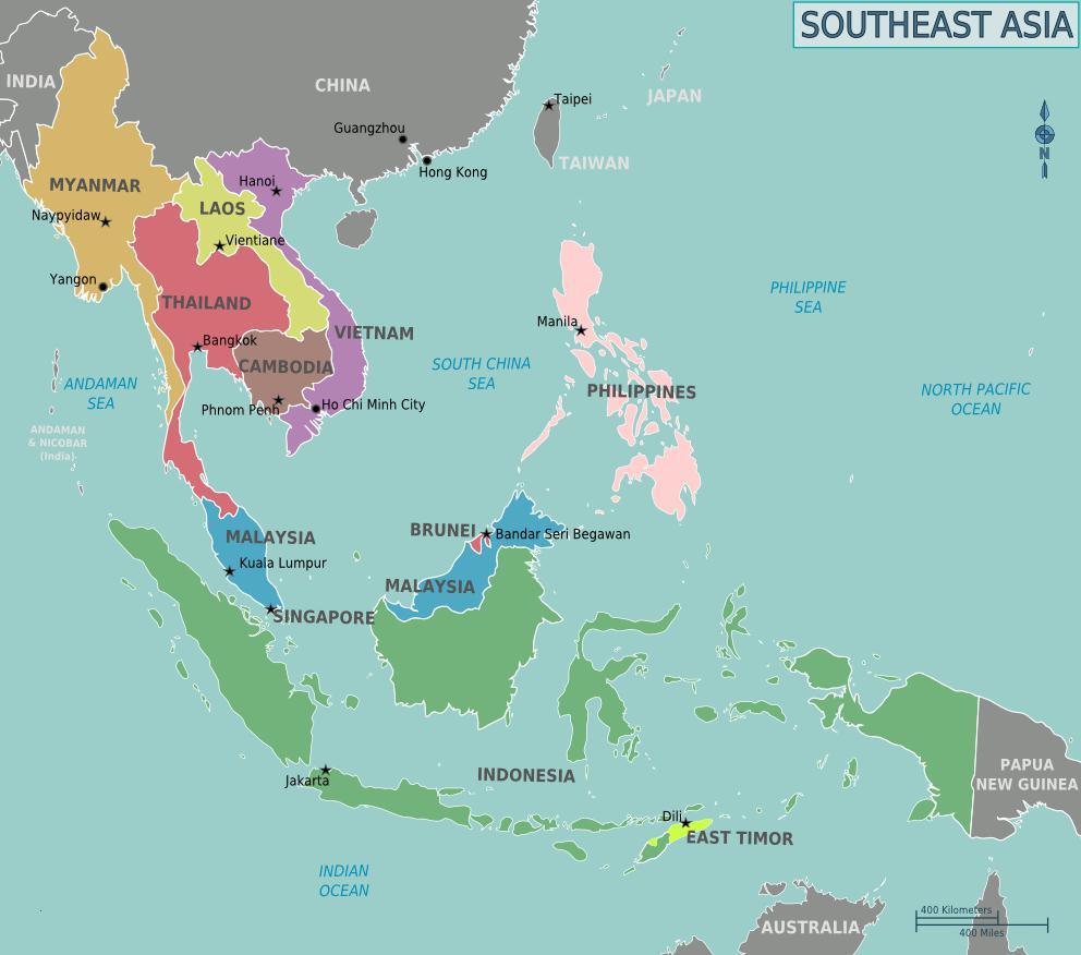 Soal Bab Unsur Geografi Penduduk Asia Tenggara Jawaban Nama Negara