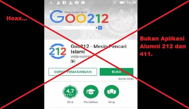 Waspada ! Aplikasi Goo212, Bukan Milik ALumni 212