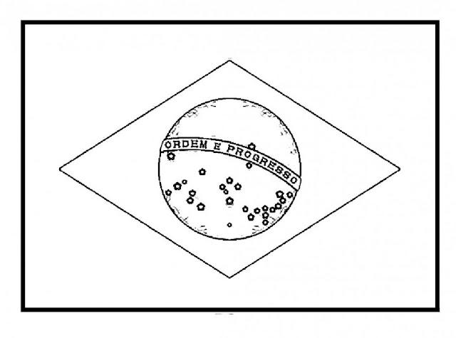 coloriage drapeau brésilien
