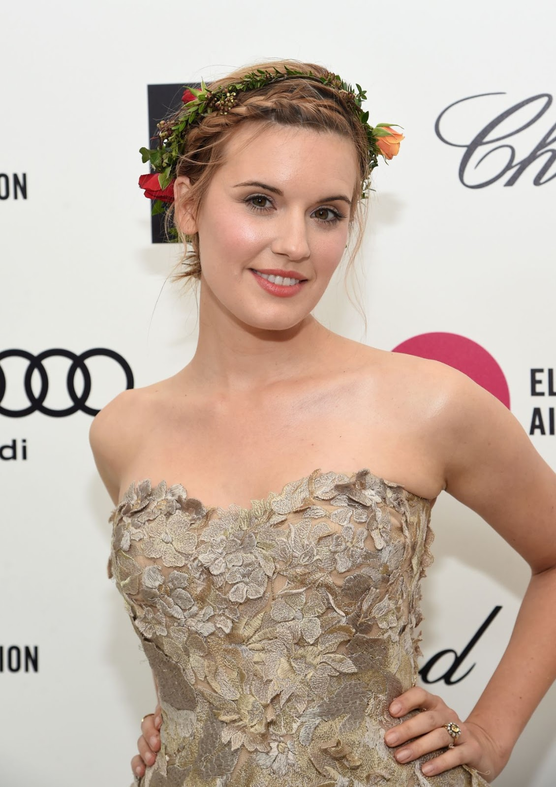 Maggie Grace at 23rd Annual Elton John AIDS Foundation's Oscar Viewing Party