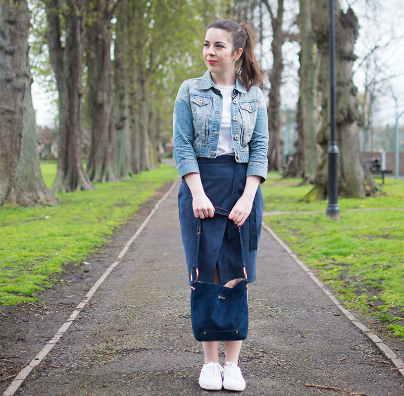How to style a suede River Island skirt