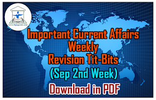 Important CA Weekly Revision Tit-Bits (Sep 2nd Week) for IBPS PO/Clerk 2016 – Download in PDF