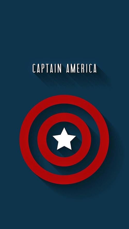 Captain America shield Mobile HD Wallpaper