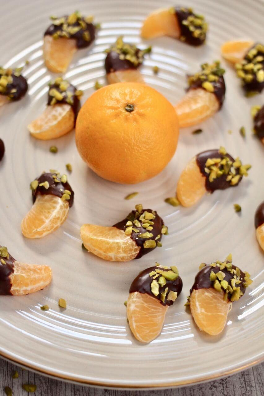 Mandarinen im Schokohemd