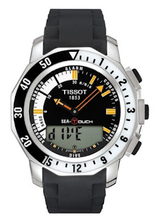TISSOT Sea-Touch In Meters Black Dial Rubber Strap T026.420.17.281.00
