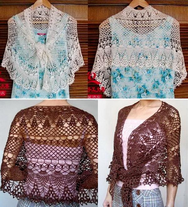 Crochet Shawls: Crochet Pattern Of Lace Shawl Wrap - Fine ...