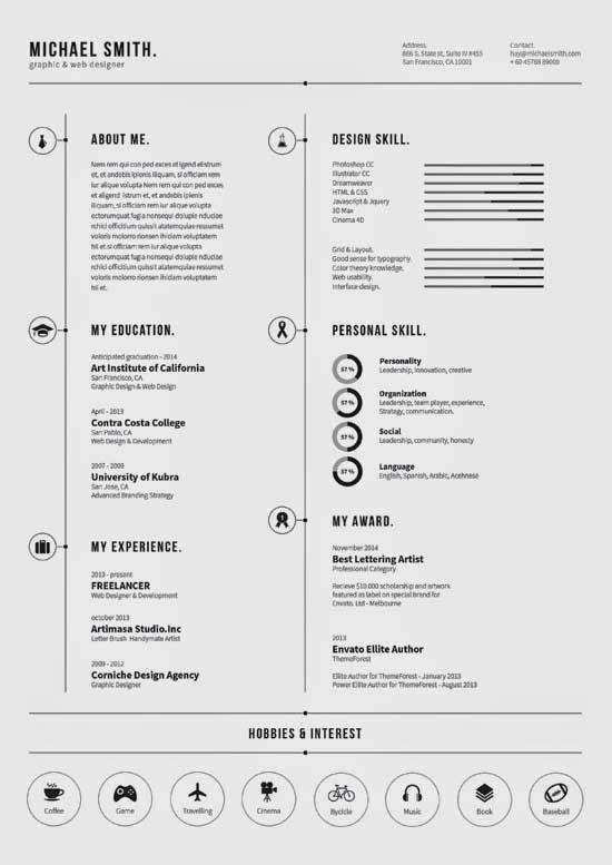 Free Creative Resume Template 19