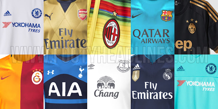 a8b83c3cf ... our new 15-16 Football Kits Overview brings you the latest 2015-16  Jerseys from the top 5 leagues as well as exclusive 2015-2016 Kits leaks  and shirt ...