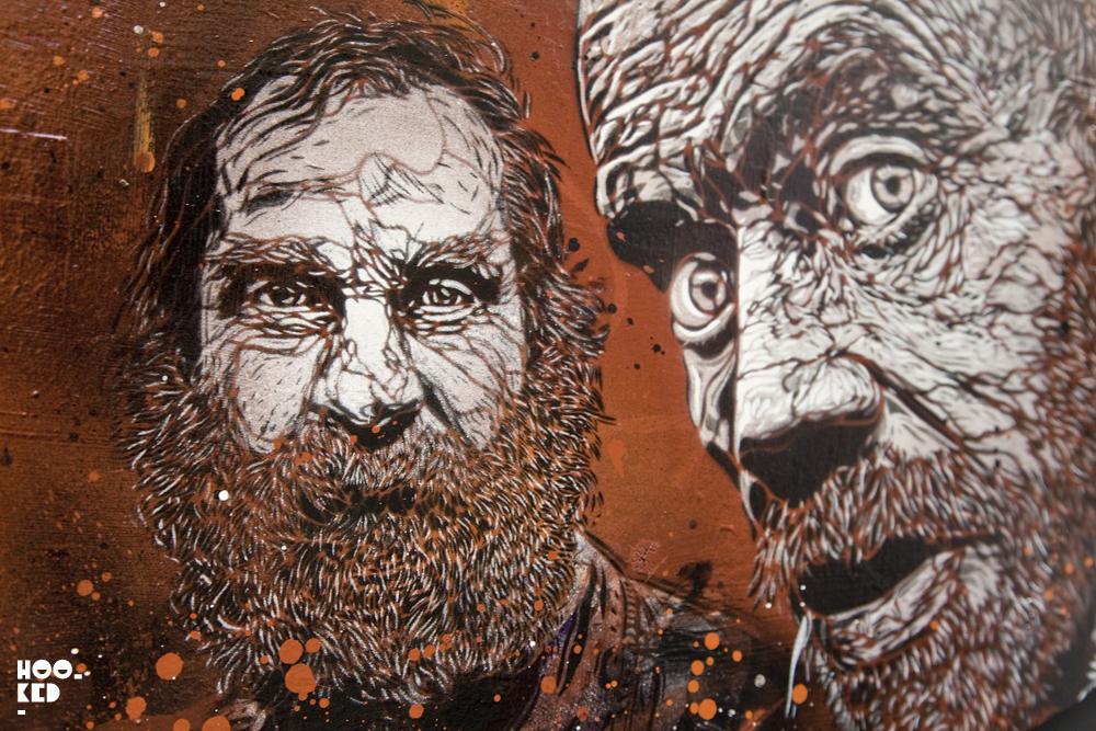 C215 - UK Street Art Exhibition Back to Black