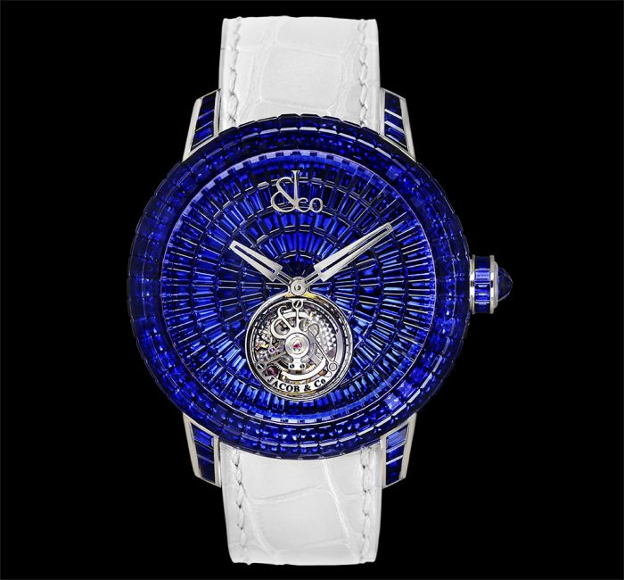 Jacob And Co Caviar Tourbillon Baguette Blue Sapphires