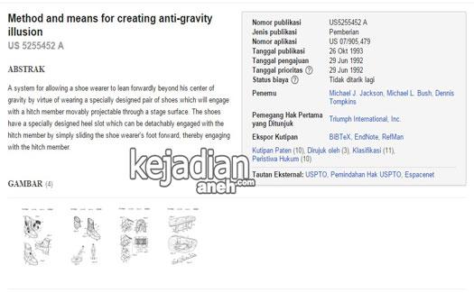 Method and means for creating anti gravity illusion Rahasia Sepatu Anti Gravitasi Michael Jackson