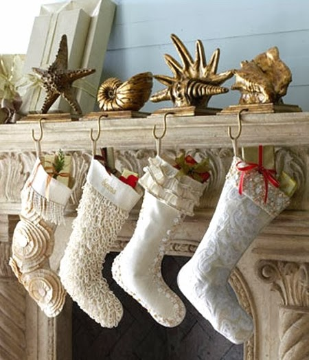 16 Merry Coastal Beach Christmas Mantels