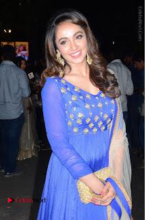 Telugu Actress Tejaswi Madivada Pos in Blue Long Dress at Nanna Nenu Na Boyfriends Audio Launch  0089.JPG