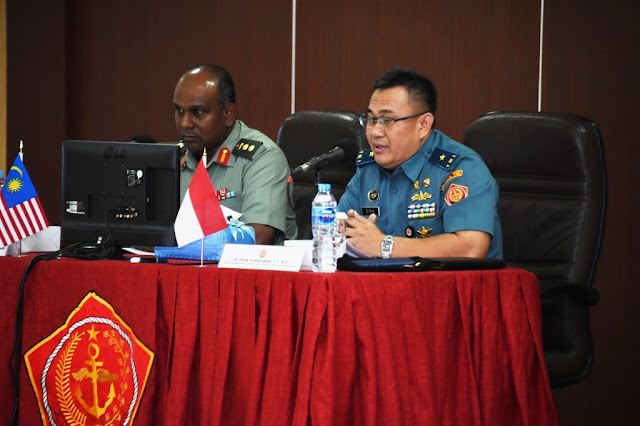Kunjungan MTAT Disambut Kapuskersin TNI