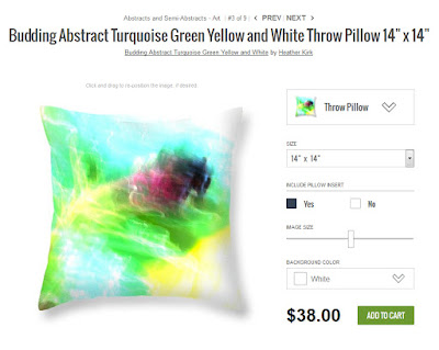 http://heather-kirk.artistwebsites.com/products/budding-abstract-turquoise-green-yellow-and-white-heather-kirk-throw-pillow-14-14.html
