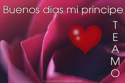 imagen muy hermosa diciendo buenos días mi principe te amo