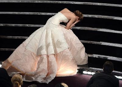 El tropiezo de Jennifer Lawrence