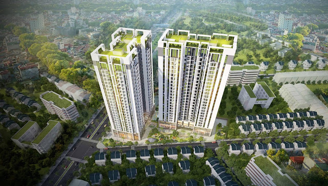 Phối cảnh chung cư Sky Central Định Công