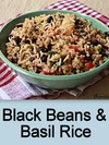Black Beans & Basil Rice
