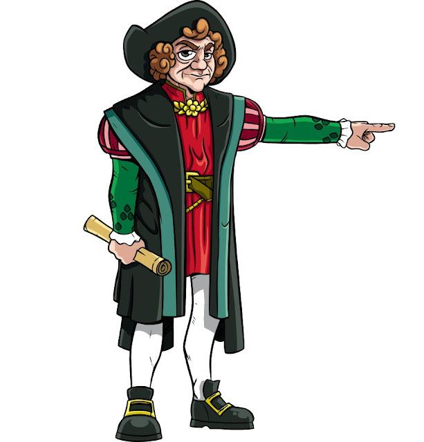 Dibujos de Cristobal Colón en color