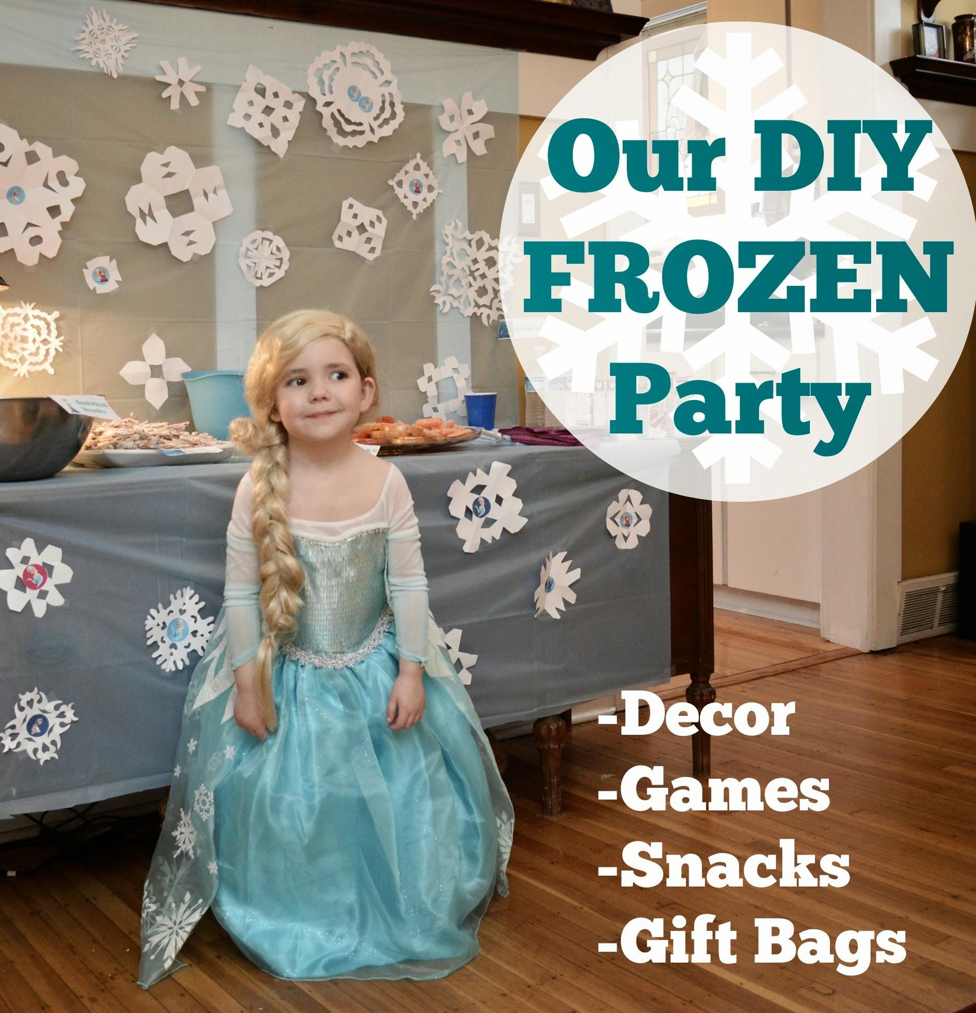 Beth Being Crafty: The DIY Frozen Birthday
