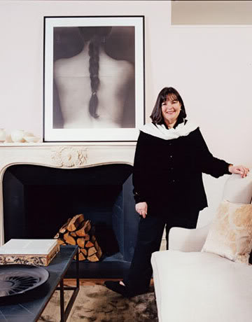 Ina in Living Room of Belgian style Manhattan apartment of Ina Garten