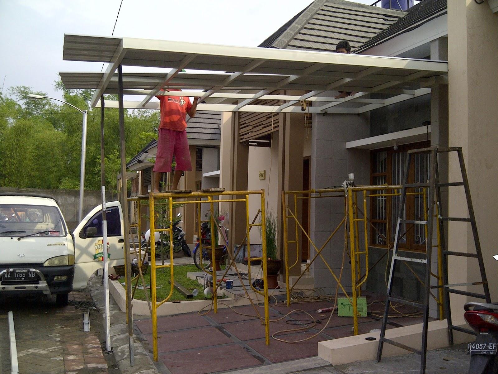 Kanopi minimalis murah jogja kanopy atap galvalum