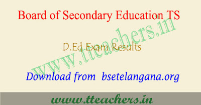 TS D.Ed 1st year results 2018, ded result 2018 Telangana