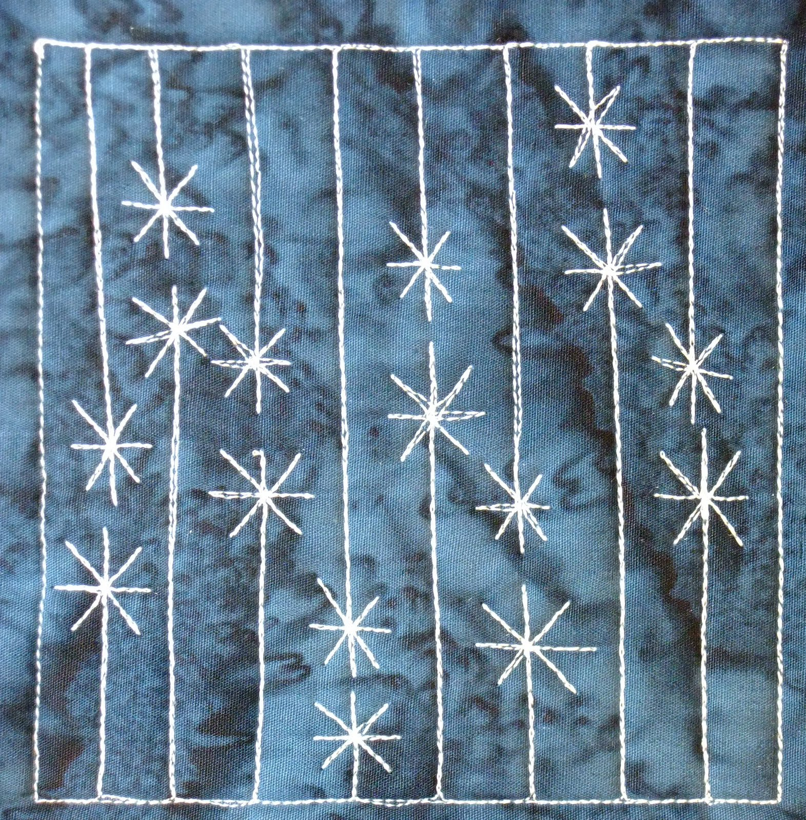 The Free Motion Quilting Project Day 264 Icicle Lights