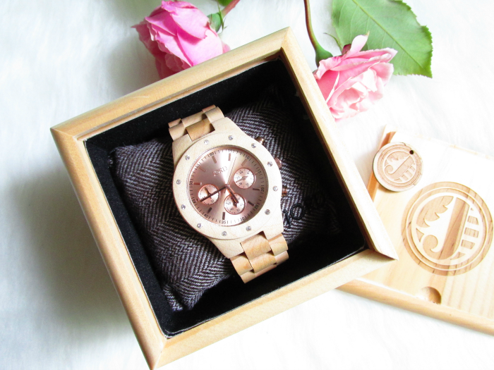 JORD Sydney Maple & Rose Gold Wood Watches - $199