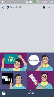 TanyaMarlo, Line, aplikasi line, HiV/AIDS, apa itu aids, apa itu hiv, cara pengobatan hiv, penularan hiv/aids,