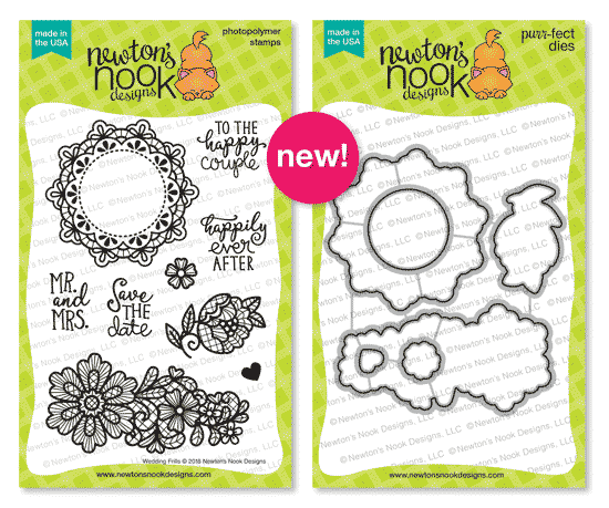 Wedding Frills Stamp Set by Newton's Nook Designs #newtonsnook #handmade