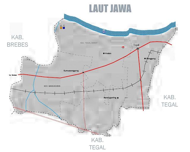 Gambar Peta infrastruktur Kota Tegal