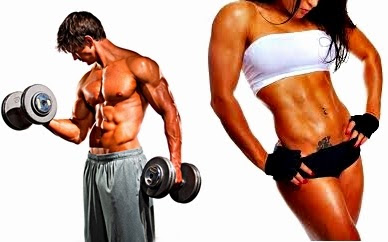 Masa muscular sin grasa hombre mujer fitness