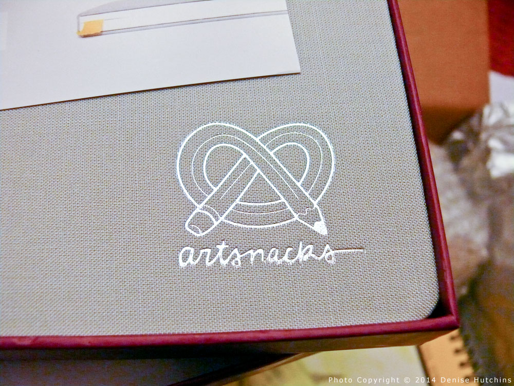 ArtSnacks Embossed on Sketchbook Cover