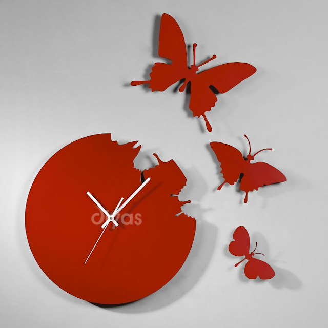 Diyas infinity clock with cutout butterflies