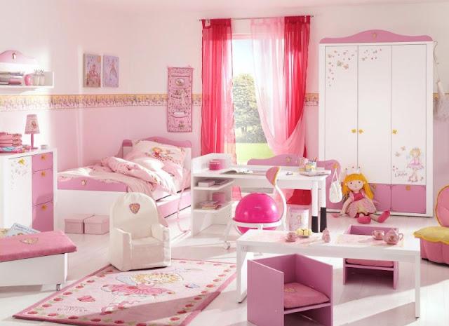 interior kamar tidur anak perempuan paling elegan | model kamar tidur anak minimalis
