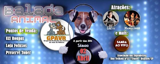 GPA CONVIDA PARA A  BALADA ANIMAL NESTE SÁBADO 2/04 NA ASSOCIAÇÃO DOS ENGENHEIROS
