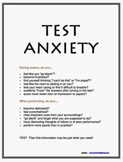 Printables Test Anxiety Worksheets florida school counselor association news dealing with test anxiety handout
