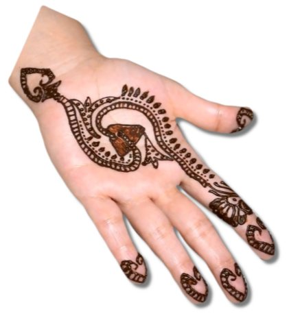 S Alphabet Mehndi Designs