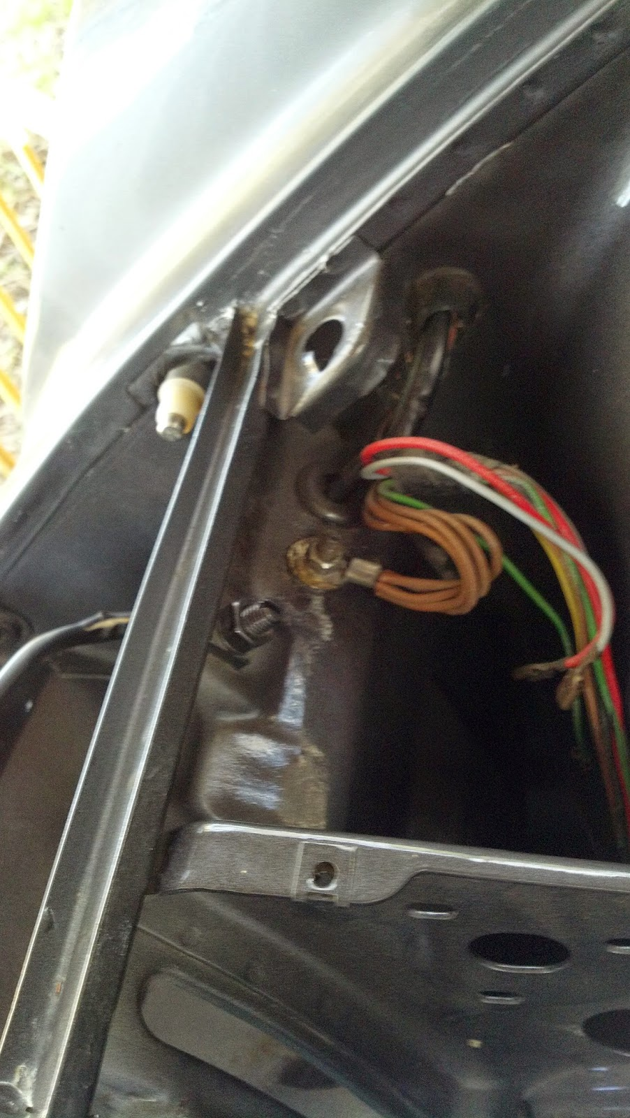medium resolution of mount the grounding harness and the headlight motor ground wire not shown yet to the stud
