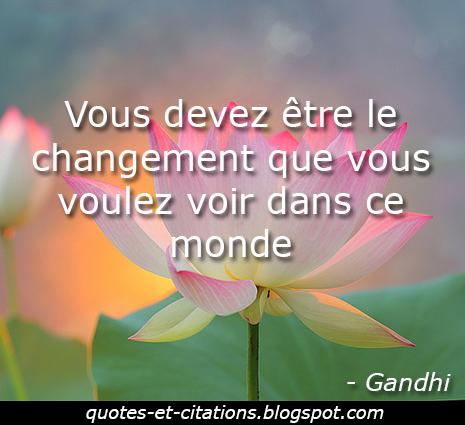 citation être le changement