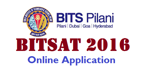 BITSAT 2016 Online Application