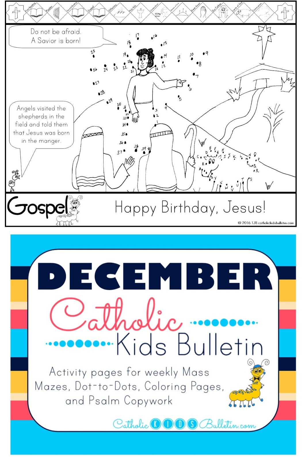 5 December Catholic Kids Bulletin Luke 2.1-14
